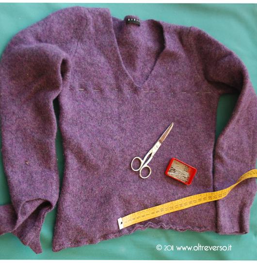 vecchio maglione infeltrito