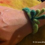 braccialetto aguillettage realizzato da Lungopiede