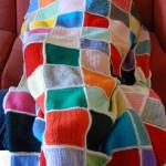 scaldotto copertina da divano all'uncinetto