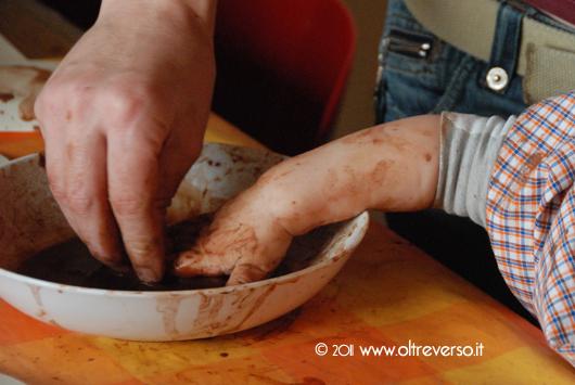dipingere con il cacao
