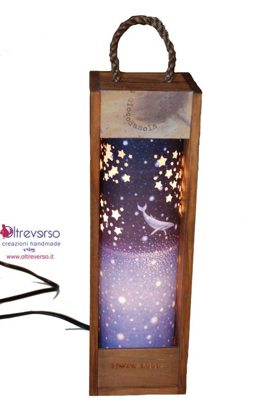 Lanterna con le balene di Shomey Yoh e una scatola del Porto Calem