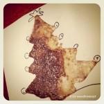 biglietto per gli auguri di Natale con caffè e zucchero da fare con i bambini