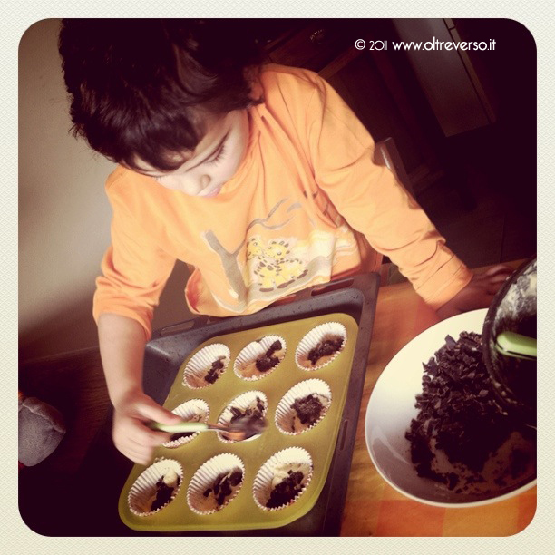 fare i muffin con i bambini