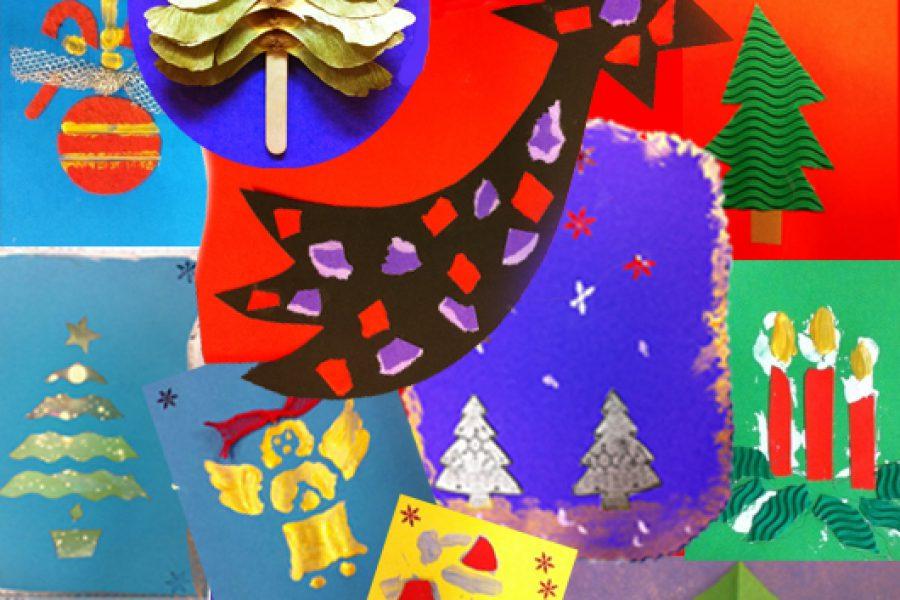 Laboratorio di biglietti di auguri per Natale