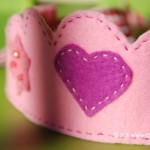 Coroncina da principessa in feltro per Carnevale