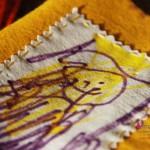 Quaderni in feltro personalizzati con i disegni dei vostri bambini