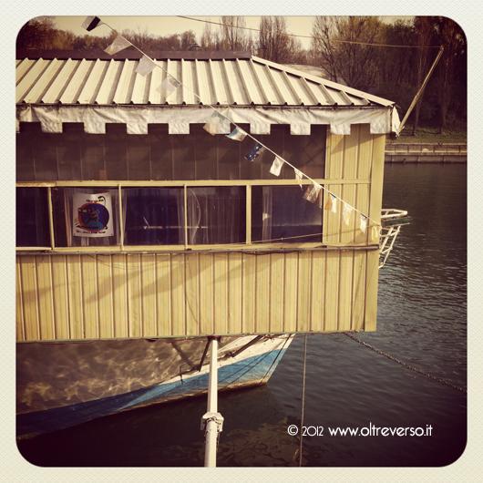 Barca sul fiume Po