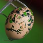 Decorare le uova di Pasqua con l'embossing