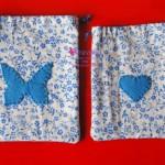 sacchettini con inserti in feltro come valige per le bambole
