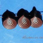 petali in fimo per collana con canna a spirale sfumata