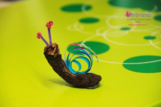 Driftwood craft_slowfood_lumaca_snail