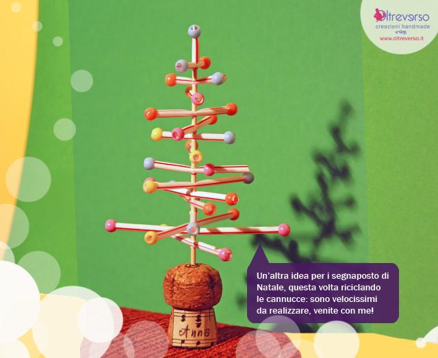tutorial per albero di Natale riciclando cannucce e tappo di sughero