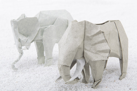 mostraorigami-spiritodicarta-torinopalazzobarolo-elefanti
