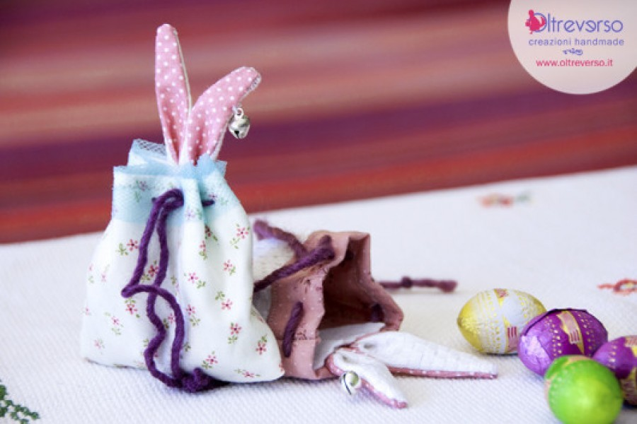 Un sacconiglio porta ovetti di cioccolata per Pasqua: dal tutorial allo swap