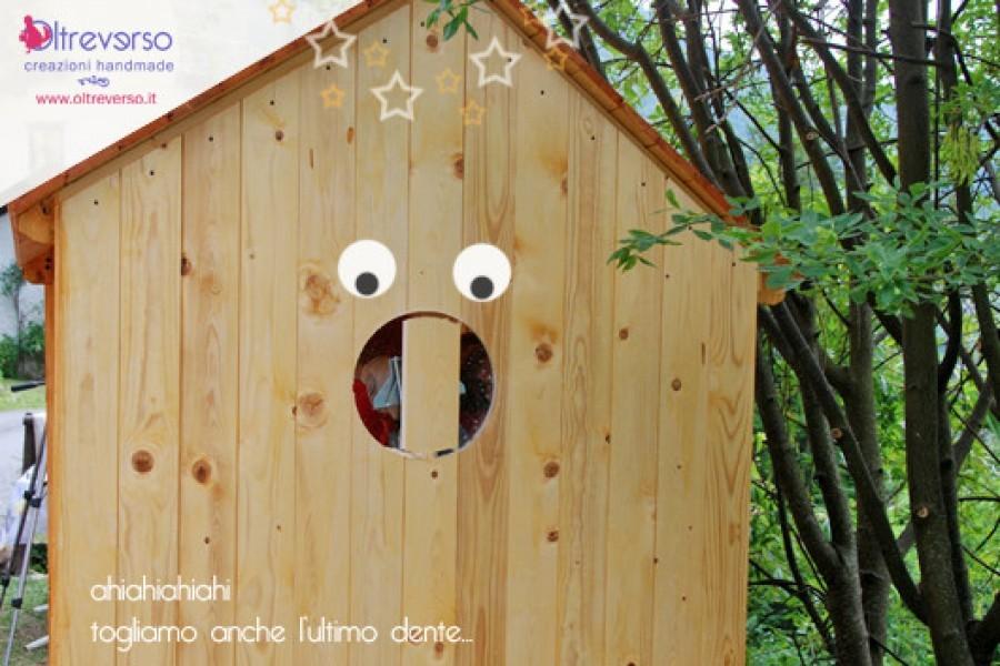 Il tutorial per l'oblò: come costruire una casetta per i bambini fai da te in giardino