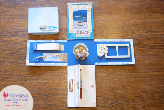 exploding box, tuoscrapbookinghomely, scrapbooking-collection-sticker-cartadecorata