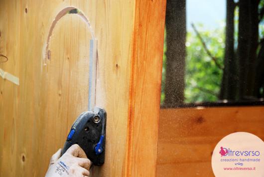 Porte e finestre della casetta per i bambini fai da te in giardino tutorial - Costruire una finestra ...