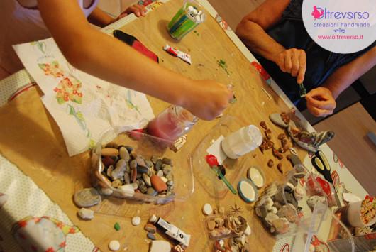 sculture-sassi-conchiglie-mare-driftwood-craft-shells-mashroom-stones-diy