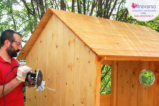 Porte e finestre della casetta per i bambini fai da te in giardino tutorial - Costruire una finestra fai da te ...