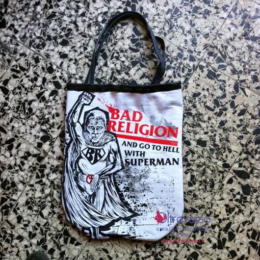 bad religion dowhatyouwant borsa da una t-shirt - inners tube creations