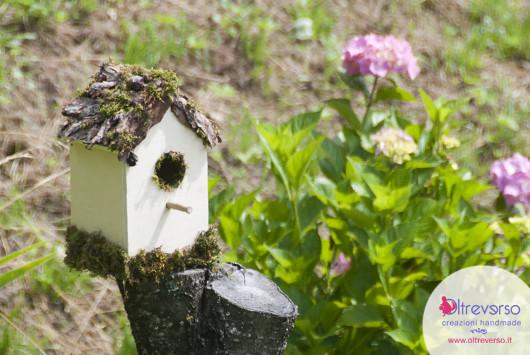 predellino bambù per la casetta degli uccelli fai da te