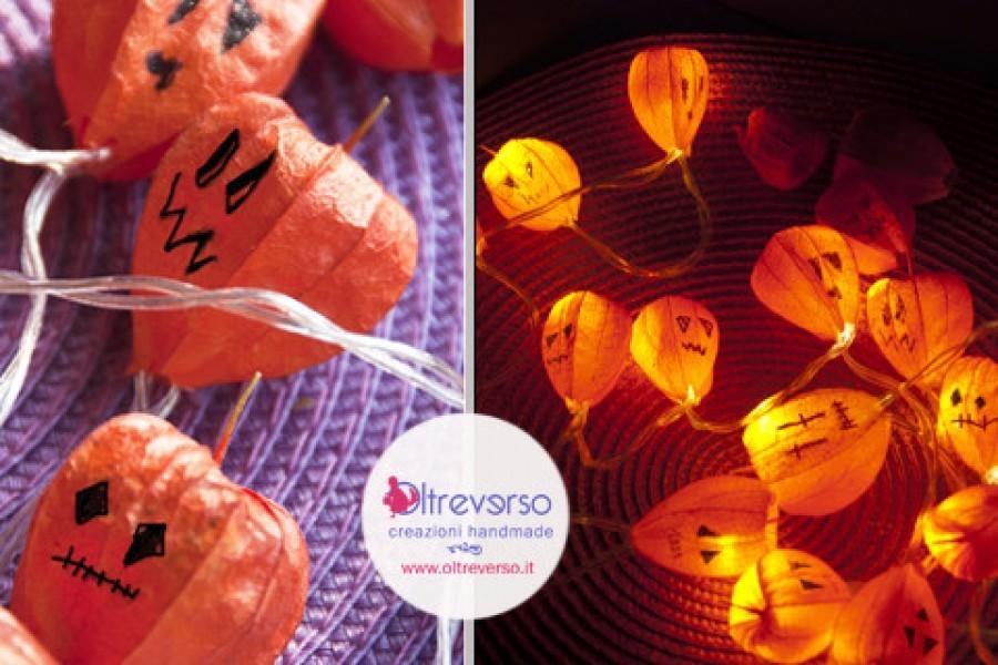 Le luci diy con gli alchechengi, anche per Halloween + tutorial