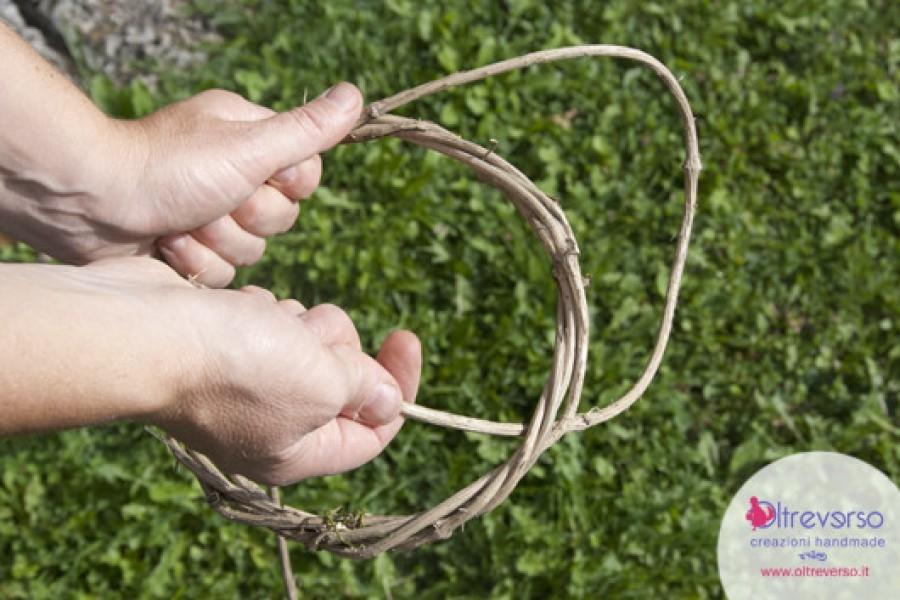 Ghirlande fai-da-te con le liane del bosco