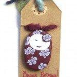 collana in fimo con canna a fiore bambolina