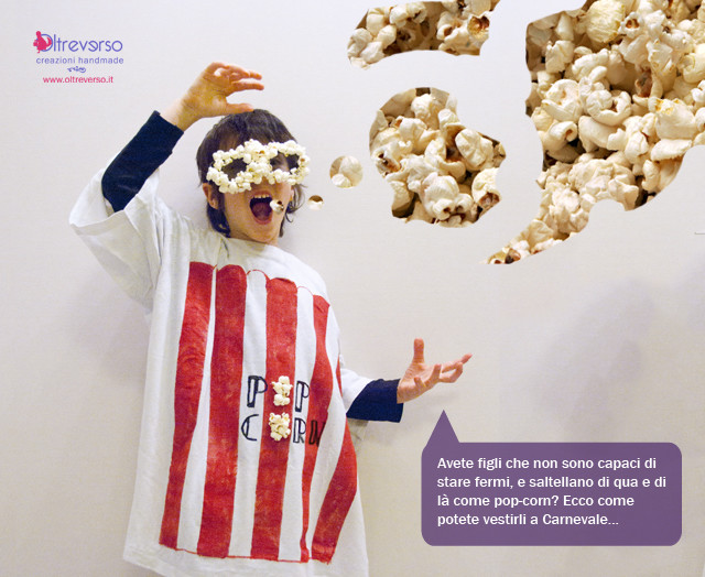 Carnevale fai da te: il costume da pop corn senza cucire