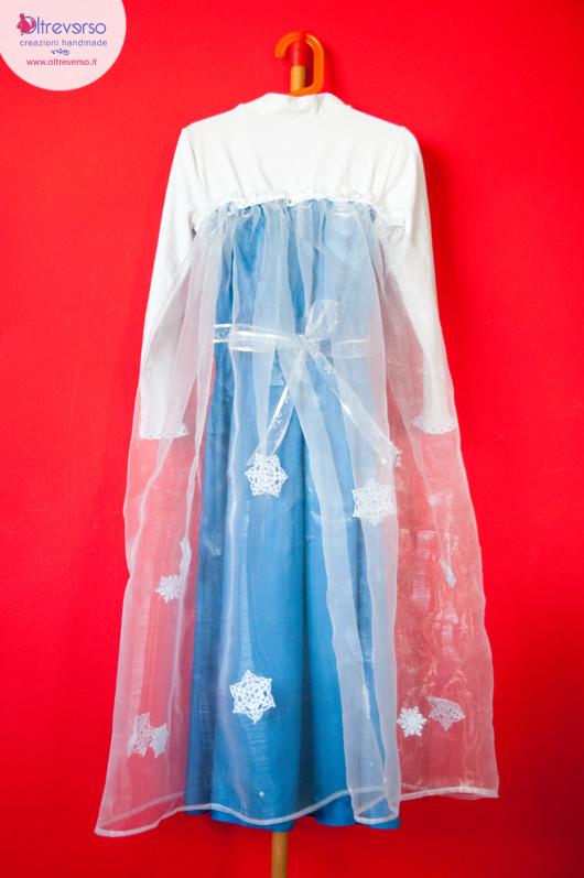 come fare il vestito fai-da-te di elsa di frozen