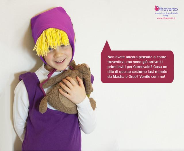 Masha e Orso: il costume fai da te senza cucire + tutorial