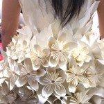 I vestiti di carta della sfilata inaugurale di Abilmente 2015