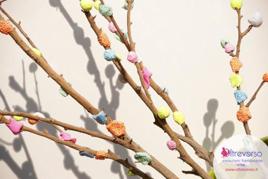 Albero di Pasqua, easter tree eggs, tutorial, lavoretti con i bambini, paste modellabili, forma clay