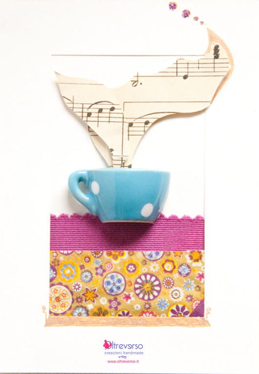 scrapbooking collage tea party tea time tè card biglietto