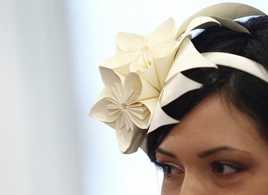 Monica Dal Molin abito da sposa in carta particolare