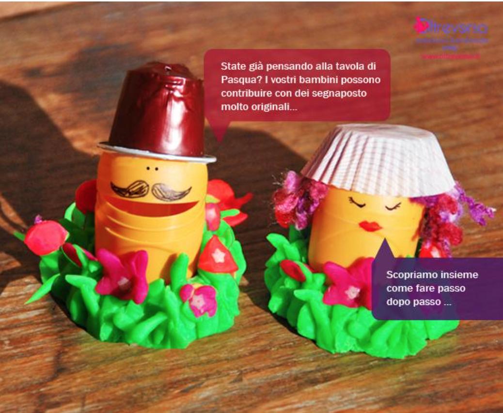 idee per riciclare ovetti e bicchierini dell'uovo di pasqua