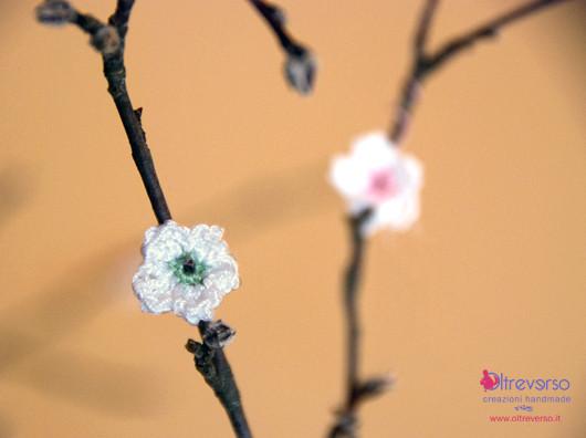 fiori di melo crochet per guestbook matrimonio country chic