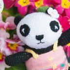 Panda all'uncinetto amigurumi pattern free di Airali