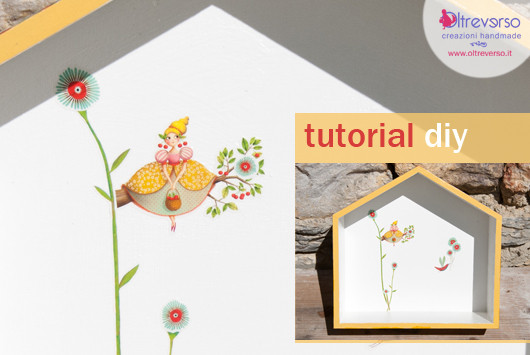 Mensole a casetta in legno diy: come decorarle + tutorial
