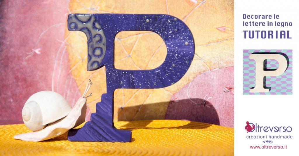 come decorare una lettera di legno da arredo