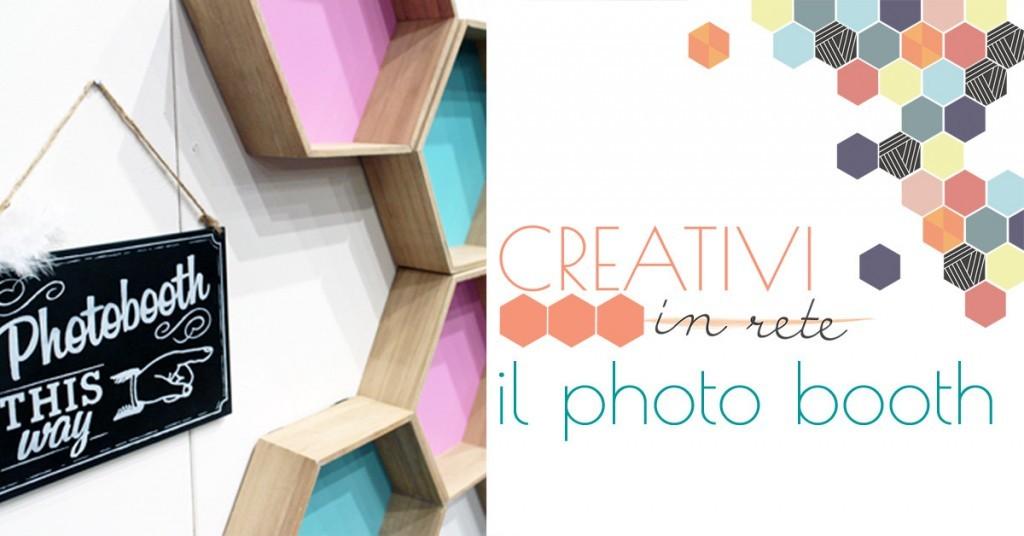 L'allestimento del Photo Booth di Creativi in rete