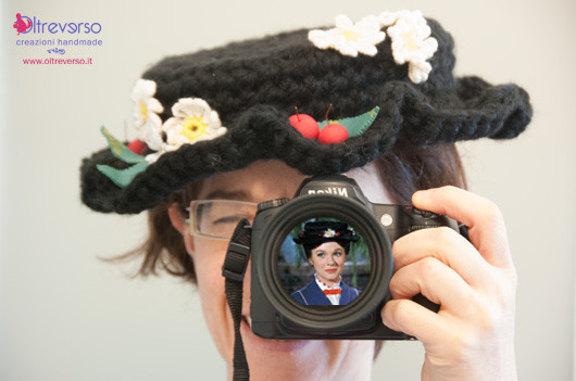cappello di Mary Poppins all'uncinetto