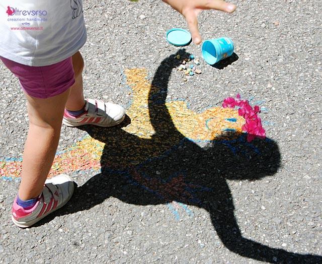 disegnare la propria ombra con i bambini