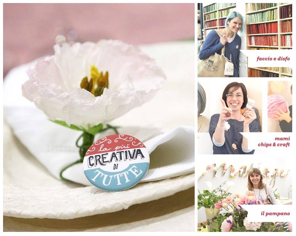 Rita di Faccio e disfo, Valentina di Mami Chips & Crafts e Simona de Il Pampano lapiùcreativaditutte manualmente