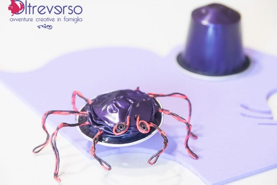 Riciclo capsule Nespresso per ragni perfetti per Halloween