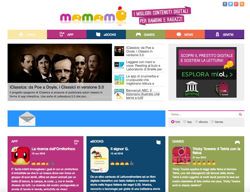 Mamamò portale dedicato all'educazione digitale dei bambini