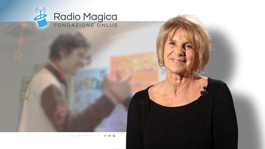 Lella Costa testimonial Radio Magica