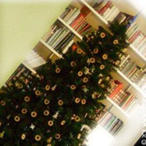 albero di natale addobbato con i bucaneve