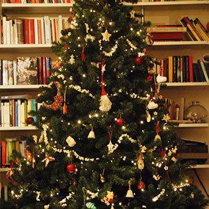 albero di Natale con i pop corn