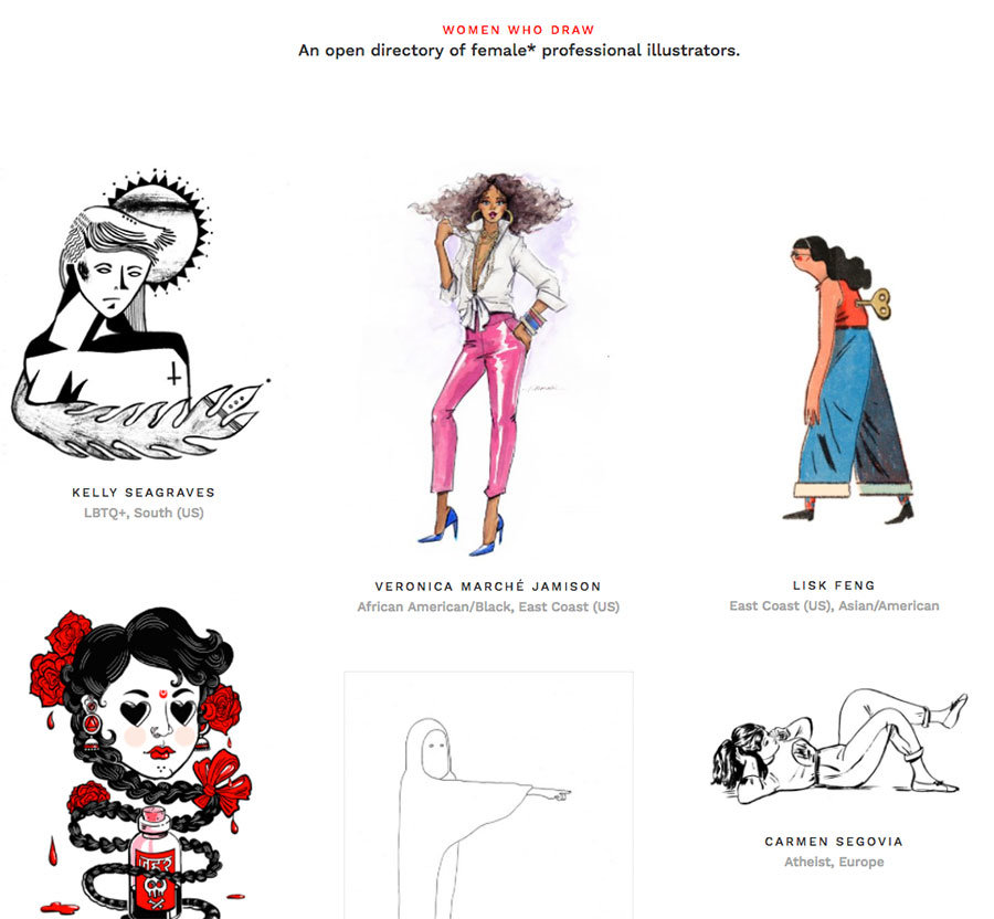 donne illustratrici women who draw